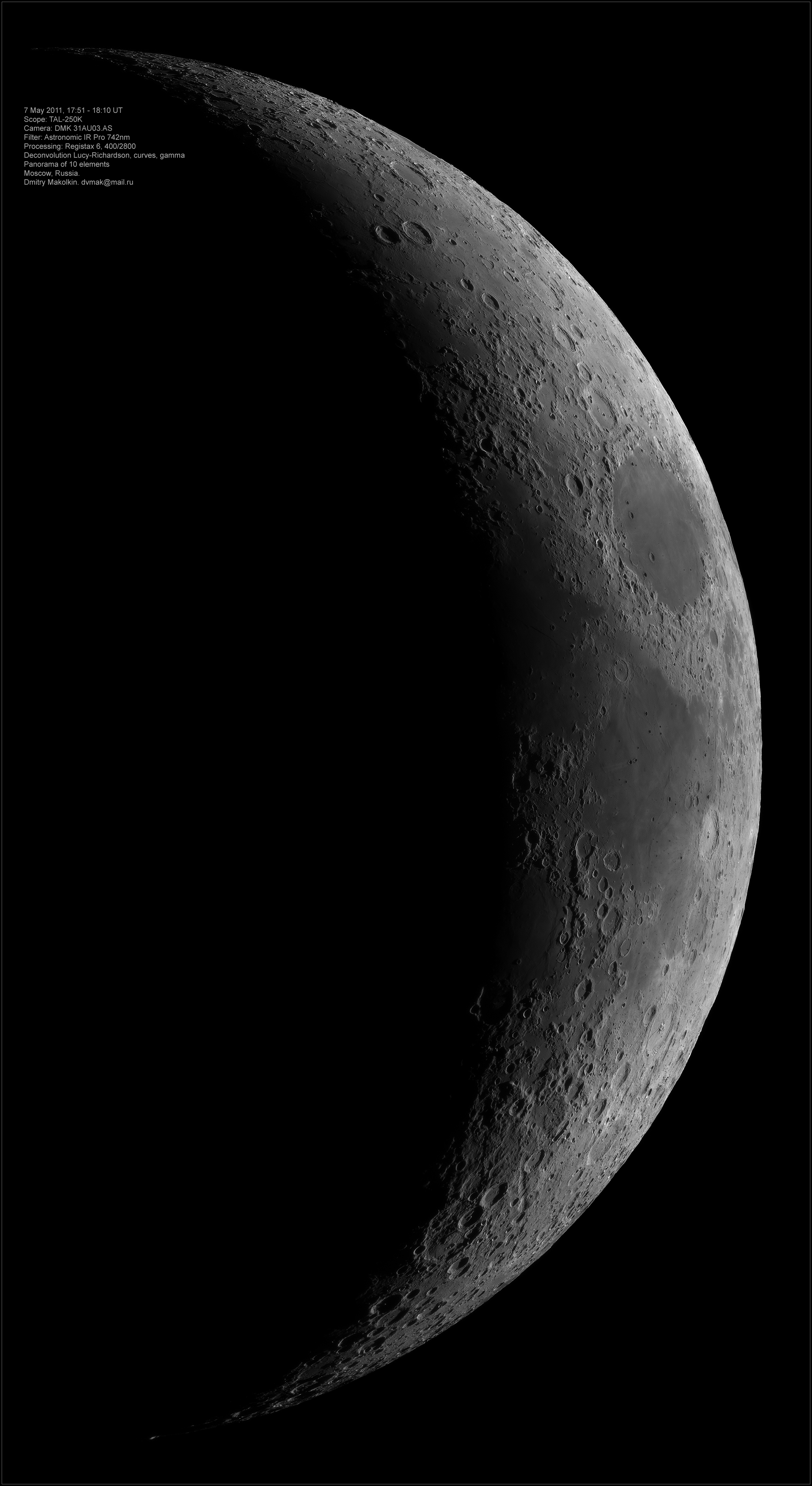 Moon panorama, 7 May 2011 by Dmitry Makolkin