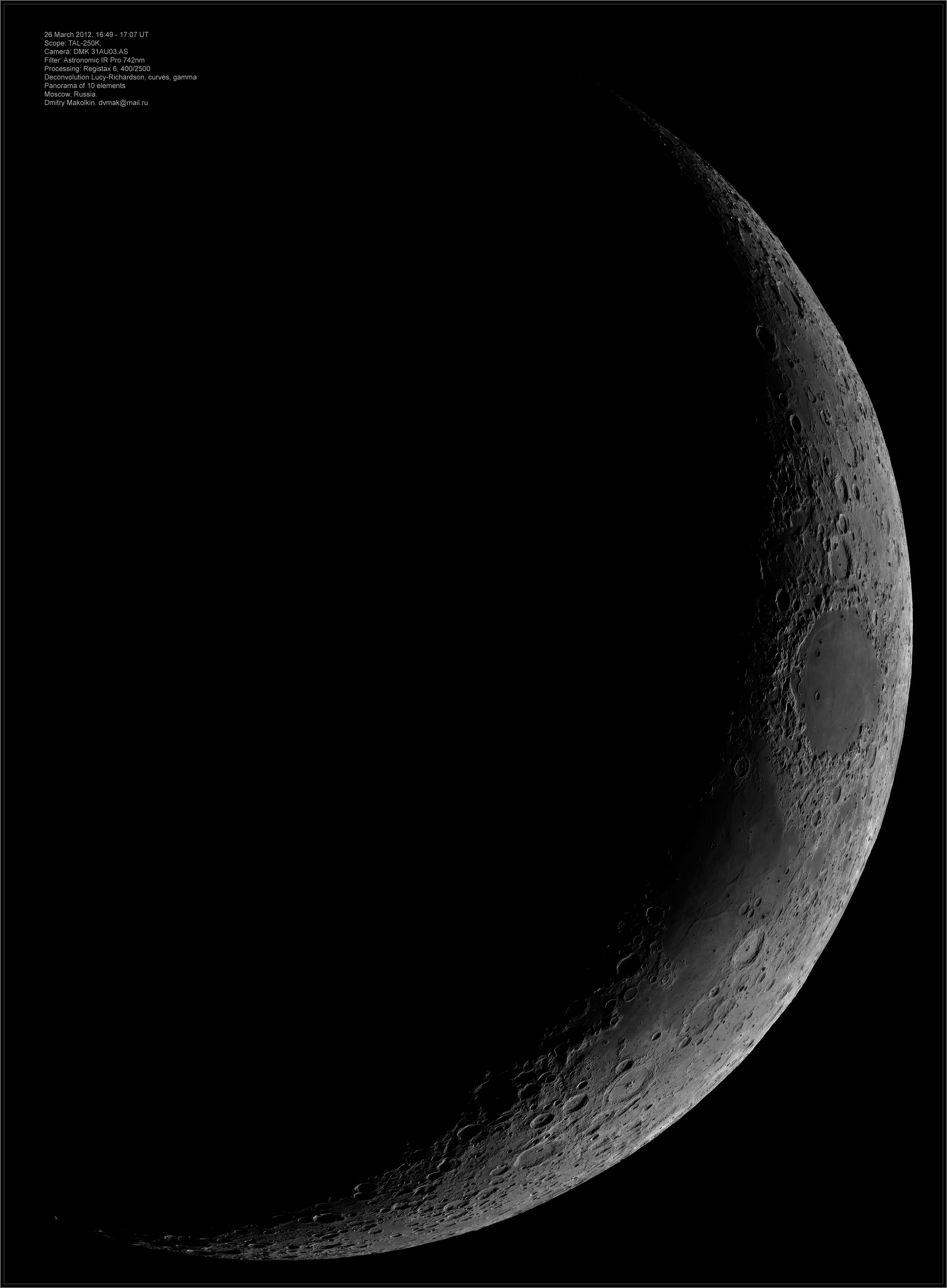 Moon image 25 March 2012